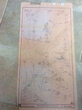Vintage Yorkshire Electricty Board YEB Map Plan Long Riston Skirlaugh Swine