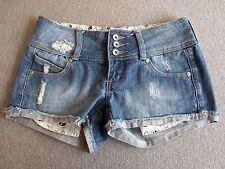 Imperial Star Denim Short Shorts Light Distressed   NWOT  Size  1
