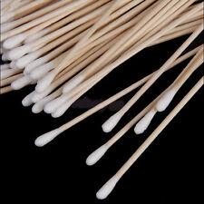 100Pcs Medical Swabs 6'' Long Wood Handle Sturdy Cotton Applicator Swab Q-tip c