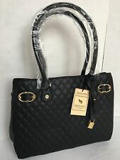 EMMA FOX Windham Tote/Black Quilted Leather Shoulder Bag/$268/NWT