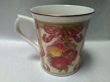 "Pair Lenox 2002 ""Holiday Harvest"" Porcelain Mug ~ Japan ~ Excellent Condition!!"