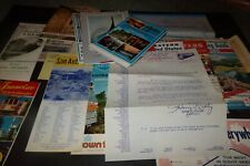Vintage Lot of Travel Brochure Maps Postcards Gray Line Tours San Antonio
