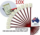 10X LED STRIP LIGHT CONNECTOR 5050 5630 SINGLE 2 WIRE 10MM PCB BOARD ADAPTER