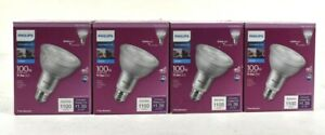 4 Pack Philips 100W Equivalent Daylight PAR 30L Dimmable LED Floodlight Bulb E26