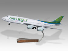 Boeing 747-8 Aer Lingus Solid Kiln Dried Mahogany Wood Handcrafted Display Model
