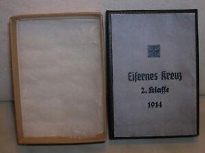 WW1-WWI GERMAN - BOX CARTONE PER CROCE DI FERRO DI II CLASSE - COPIA - REPLIKA