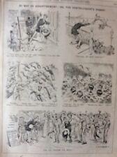 A2i Ephemera 1911 Original Punch Cartoon Ventriloquist And Dummy