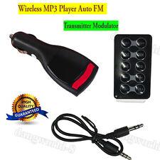 Wireless MP3 Player Auto FM Transmitter Modulator LCD Car Kit USB Charger MMC