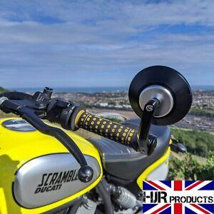 HJR Products CNC Round Bar End Mirrors Ducati Scrambler pair Genuine
