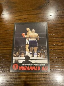 2021 TOPPS MUHAMMAD ALI THE PEOPLE'S CHAMP CARD #66 Black Parallel 37/56