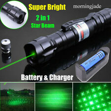 900 Miles Green Laser Pointer Pen Star Beam Rechargeable Lazer & Battery&Charger
