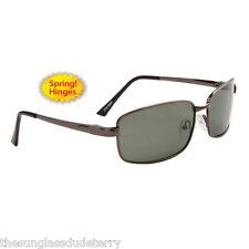 Polarized Sunglasses New Designer Metal Sport Shades Men Women Gray PZ8205A