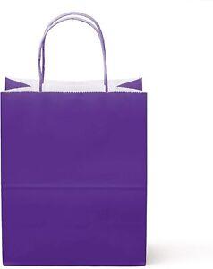 "12 Count Food Safe Premium Paper & Ink Medium 10"" X 8"", Vivid Colored Kraft Bags"