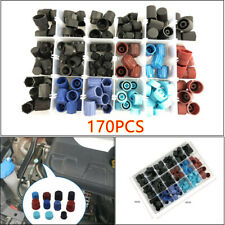 170pcs Car Repair A/C R134a R12 High Low Side Valve Core Port Dust Cap with Box