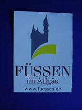 Aufkleber Füssen im Allgäu Bundesland Bayern 11 x 8 cm Deutschland Germany