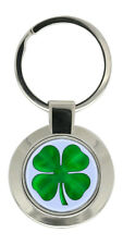 Lucky Four Leaf Clover Metal Key Ring