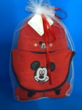 Disney Baby Layette Set NWT 4 Piece Set 0-6 Month Infant Mittens Bib Booties Hat