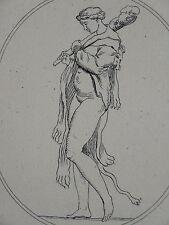 BELLE GRAVURE XVIII° IOLE FEMME NUE MYTHOLOGIE ITALIE ITALIA MYTHOLOGY WOMAN