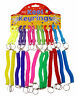 5 Stretchy Spiral Retractable Keychains Keyrings Belt Clip Key Party Bag Gift UK