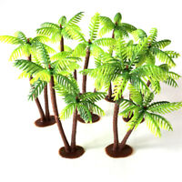 Mini Coconut Tree Plastic Green Water plants Aquarium Fish Tank plants MW^-VGJB