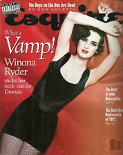 RARE Back Issue - ESQUIRE Magazine - WINONA RYDER - 1992 - Several Issues listed
