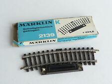 MARKLIN VOIE K RAIL ELEMENT DE TELECOMMANDE COURBE 15° / R 424,6 REF 2139
