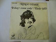 "RINGO STARR(BEATLES)""IT DON'T COME EASY-disco 45 giri APPLE Italy 1971"""