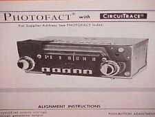 1967 KAISER JEEP JEEPSTER CONVERTIBLE COMMANDO WAGONEER AM RADIO SERVICE MANUAL