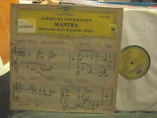 KARLHEINZ STOCKHAUSEN MANTRA DGG 1971 RARE LP GERMANY gatefold kontarsky import!