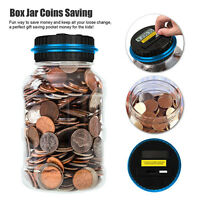 Coin Counter Jar Kids Piggy Bank Currency Money Counting Electronic LCD Machine