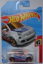 2018 Hot Wheels HW DAREDEVILS 2/5 Fiat 500 (Silver Version)(Int. Card)