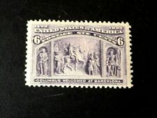 Mint Us Stamps - Scott 235 6c Columbian Issue Og Nh
