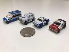 Vintage MicroMachines Emergency Vehicles Police Swat Ambulance Lot of 4
