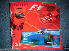 AUSTRALIAN GRAND PRIX PROGRAMME F1 PRESS PACK 1998 MICHAEL SCHUMACHER DAMON HILL