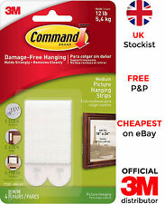 3M Command Medium Picture Frame Hanging Strips for Damage Free Hanging