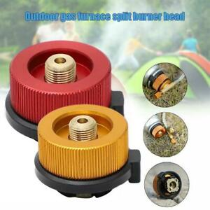 Butane Gas Metal Stove Adapter Convert Fuel Canister TOP For Long Tank Gas UK
