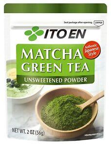 Ito En Matcha Green Tea Unsweetened Powder 2 Oz (56g) Authentic Japanese Style