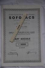 10 actions Société Foncière des Grands Lacs Africains SOFOLACS Congo belge Kindu