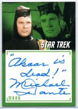 MICHAEL DANTE as Maab / Star Trek TOS Archives & Inscriptions Autograph A18