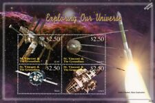 EXPLORING OUR UNIVERSE Russian Spacecraft Space Stamp Sheet (1999 St.Vincent)