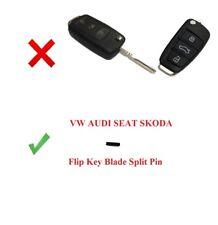 1x FLIP KEY BLADE SPLIT PIN for VW AUDI SEAT SKODA FORD