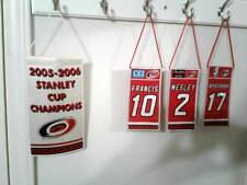 Carolina Hurricanes collectible banner repros Set of 4 Stanley Cup & retired #'s
