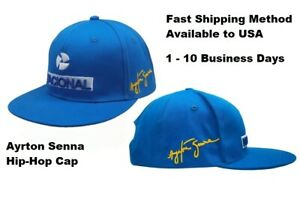 Formula F1 Racer Ayrton Senna Hip-Hop Cap Adjustable Snapback Baseball Hat