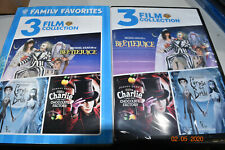 3 Film Collection Beetlejuice Charlie and the Chocolate Factory Corpse Bride