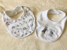 White Elephant Baby Bibs 3-6 Months