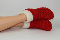 PRINTED INSTRUCTIONS - CHRISTMAS SUPER CHUNKY SLIPPERS BOOTS KNITTING PATTERN