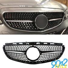 für Mercedes DIAMANT Grill E KLASSE W212 S212 Mopf GLANZ SCHWARZ Kühlergrill