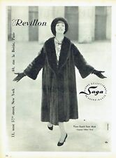 Publicité Advertising 097  1957   manteau Vison Revillon Saga chapeau G. Orcel