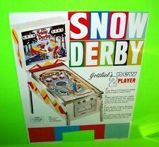 Snow Derby Pinball FLYER Original 1970 TRIMMED Gottlieb Vintage Game Artwork