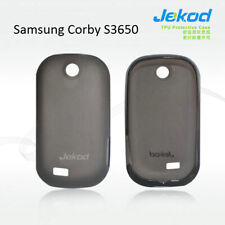 Jekod black TPU gel silicon case cover+screen protector for Samsung Corby S3650